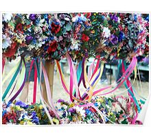Dried Flower Wreaths  Poster