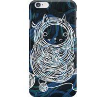 Yarn Cat- Teal iPhone Case/Skin