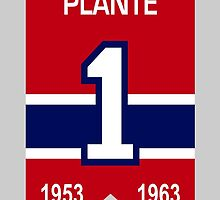 Jacques Plante - retired jersey #1 by ianscott76