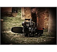 One of the Monster Chainsaws Photographic Print