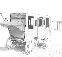 1800 stage coach  by Bonnie Pelton