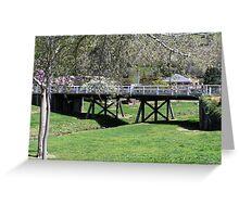 Wooden Road Bridge, Carcoar, NSW Greeting Card