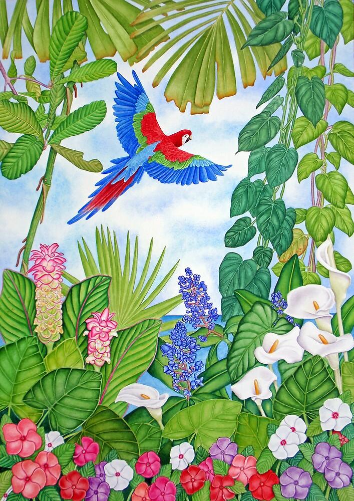 Macaw in Flight by joeyartist