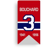 "Emile ""Butch"" Bouchard - retired jersey #3 Canvas Print"