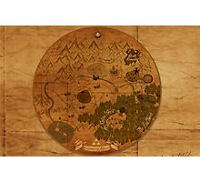 Hyrule Map: Antique style map of Hyrule (OoT) Photographic Print