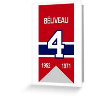 Jean Beliveau - retired jersey #4 Greeting Card