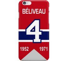 Jean Beliveau - retired jersey #4 iPhone Case/Skin