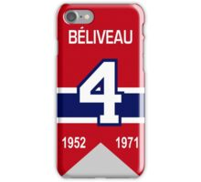 Jean Beliveau - retired jersey #4 iPhone Case/Skin