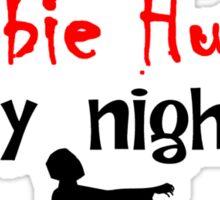 Veterinarian By Day Zombie Hunter By Night Sticker
