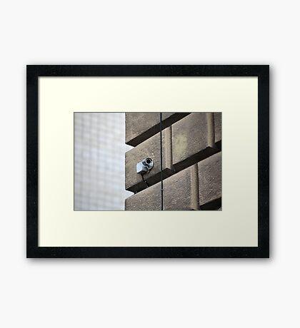 Camera outdoor surveillance Framed Print