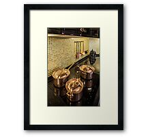 luxury  Interior kitchen  Framed Print