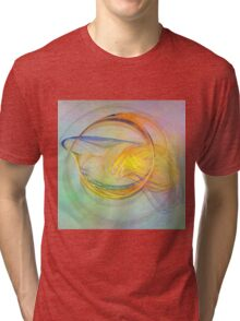 Golden Flame-Available As Art Prints-Mugs,Cases,Duvets,T Shirts,Stickers,etc Tri-blend T-Shirt