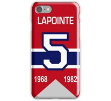 Guy Lapointe - retired jersey #5 iPhone Case/Skin