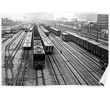 Train Yard in Hsinchu Poster