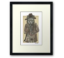 Pirate Wolf Framed Print