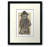 Pirate Wolf Framed Print