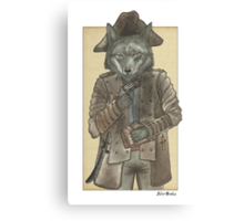 Pirate Wolf Canvas Print