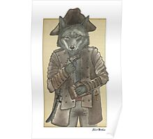 Pirate Wolf Poster
