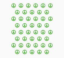 Green Peace Sign Pattern Unisex T-Shirt