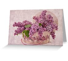 Lilacs In The Box Greeting Card