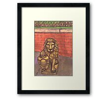lion in chinatown Framed Print