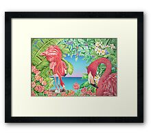 Flamingo Family Framed Print
