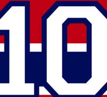 Guy Lafleur - retired jersey #10 Sticker