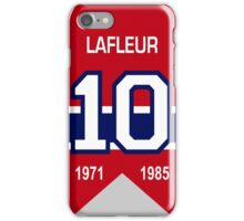 Guy Lafleur - retired jersey #10 iPhone Case/Skin