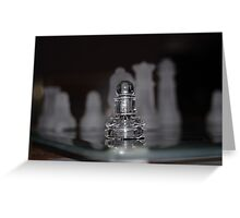 Chess Pieces Greeting Card