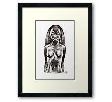 Marquesan Woman. Framed Print