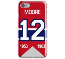 Dickie Moore - retired jersey #12 iPhone Case/Skin