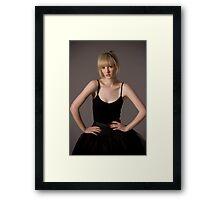bad girl ballerina Framed Print