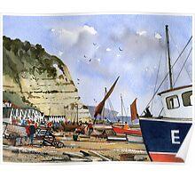 Beer Beach, Devon - Jurassic Coast Poster
