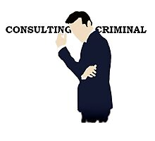 Consulting Criminal Photographic Print