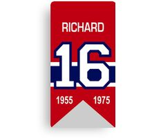 Henri Richard - retired jersey #16 Canvas Print