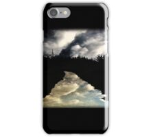 Reflections on an empty road iPhone Case/Skin