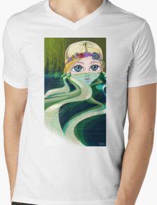 Water Girl Mens V-Neck T-Shirt