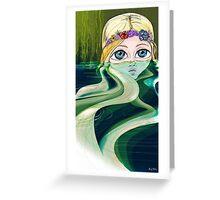Water Girl Greeting Card