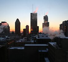Montreal winter sunrise by Leanne Davis