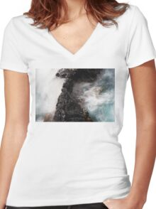 DEEP Women's Fitted V-Neck T-Shirt