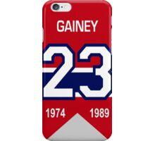Bob Gainey - retired jersey #23 iPhone Case/Skin