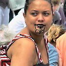 Maori Pride in a Crowd by Larry Lingard-Davis