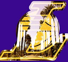 Lakers Silhouette  by BaseballBacks