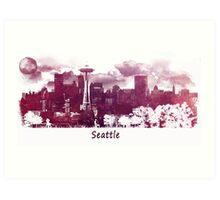 Seattle Washington skyline Art Print