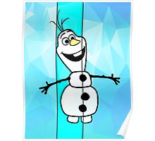 Olaf Blue Poster