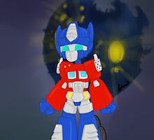 Chibi Optimus Prime by erin-in-motion