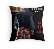 Scottish Fling Weekend at the Penna. Ren Faire ...  Throw Pillow