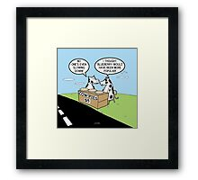 Cow Pies Framed Print