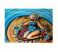 Bucket and Spade Maiden Art Print