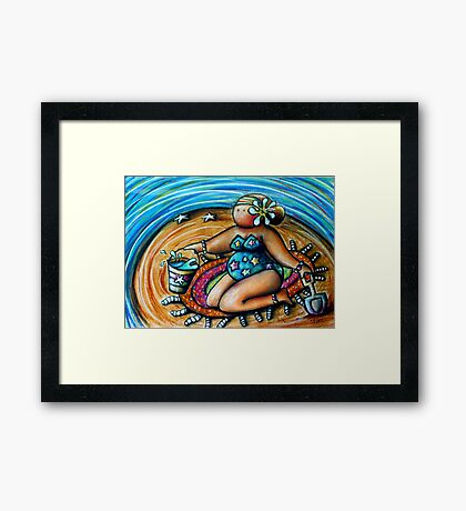 Bucket and Spade Maiden Framed Print